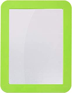 Katzco 5 x 7 Inch Magnetic Mirror - Ideal for School Locker, Refrigerator, Home, Workshop or Office Cabinet, Blue or Green