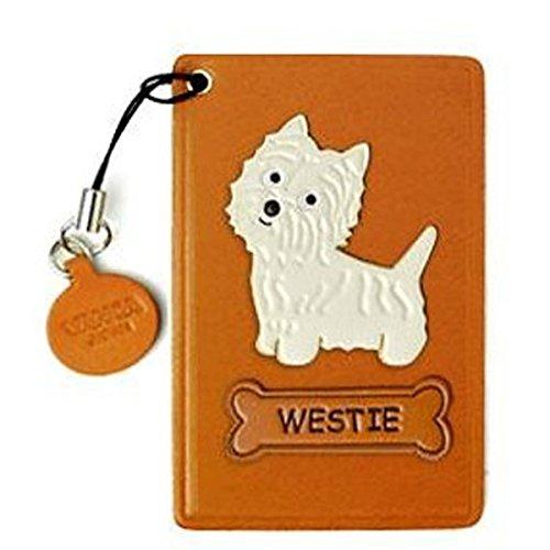 Westie, Leder, Pass/ID/Kredit Karte Halter/VANCA Case **Handgefertigt in Japan