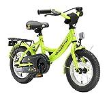 BIKESTAR Kinderfahrrad für Mädchen und Jungen ab 3-4 Jahre | 12 Zoll Kinderrad Classic | Fahrrad für Kinder Grün | Risikofrei Testen