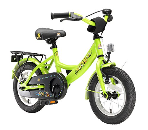 BIKESTAR Premium Sicherheits Kinderfahrrad 12 Zoll für Mädchen und Jungen ab 3-4 Jahre | 12er Kinderrad Classic | Fahrrad für Kinder Grün