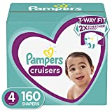 Diapers Size 4, 160 Count - Pampers Cruisers Disposable Baby Diapers, ONE MONTH SUPPLY