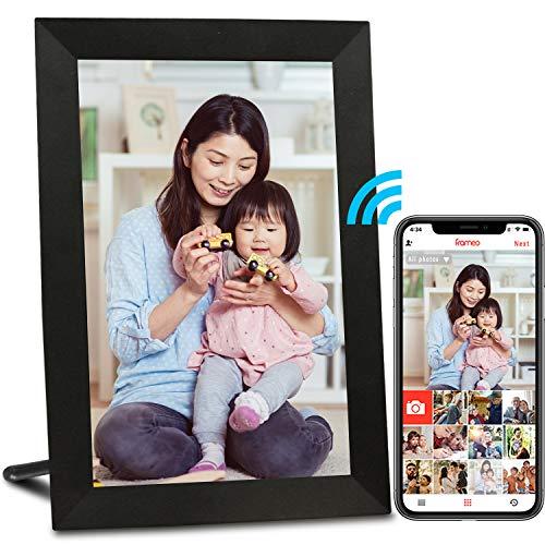 AEEZO WiFiデジタルフォトフレーム9インチIPSタッチスクリーンHDディスプレイ、自動回転、無料の無制限ストレージ写真と動画を共有するための簡単なセットアップ、壁に取り付け可能なスマートクラウドデジタルフォトフレーム(ブラック)