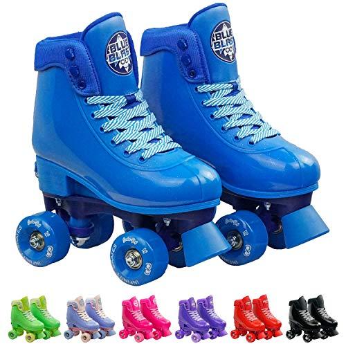 Crazy Skates Adjustable Roller Skates for Girls and Boys - Soda Pop Series (Blue/Small)