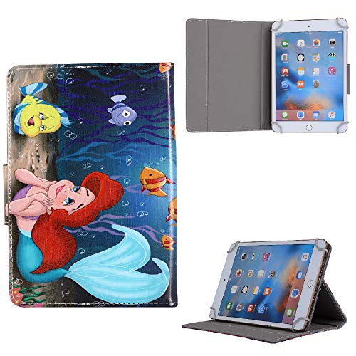 Disney Heroes Cartoon Character Kids Tablet Case For ~ Apple iPad 8th Generation 2020 10.2' inch Cover (Ariel Mermaid In Love)