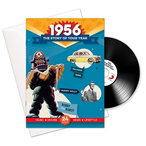 1956 Birthday or Anniversary Gifts - 1956 4-In-1 Card and Gift - Story...