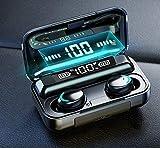 JESTES® Cuffie Auricolari Bluetooth 5.0 Senza Fili Wireless, Custodia da ricarica con Display Digitale LCD, compatibili con Android e iOS