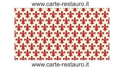 Madiant Tech snc di Gusmini Alessio & C. Florentiner Lilienpapier, Format 70x100 cm - Farbe: Rot - (Preis pro Packung à 50 Stück)