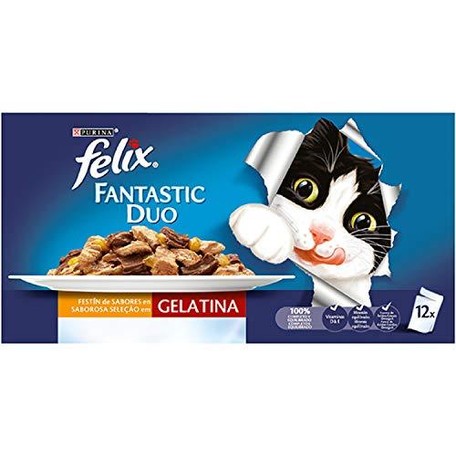 Felix Duo 6X12X100GR, Negro, Estandar