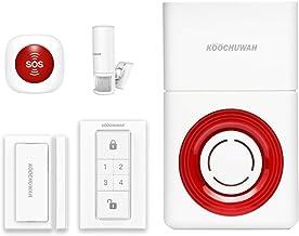 KOOCHUWAH Smart Wireless Outdoor Home Security Caregiver Alarm System Kit, Door Sensor + Motion Detector + Waterproof Rece...