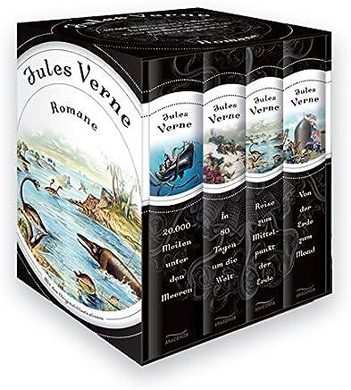 Jules Verne Roane Vier Bände i Schuber 20000 eilen unter den eeren In 80 Tagen u die Welt Reise zu ittelpunkt der Erde Von der Erde zu ond by Jules Verne