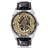Leopardo Floral Mujer Cinturón Reloj Simple Estilo Clásico Reloj Deportivo Diseñado para Mujeres Simple y Moda