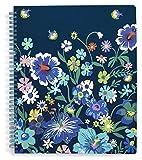 Vera Bradley Notebook With Pocket Moonlight Garden One Size
