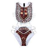PinkLu Bikini éTnico Vintage Estampado Africano para Mujer Bikini De Mujer Sexy Encaje Malla Negro Traje De BañO Estilo De ImpresióN De Bikini De China De Las Mujeres