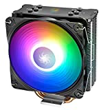 DEEP COOL GAMMAXX GT A-RGB, Ventilateur de Processeur PC, 4 Caloducs, Ventilateur 120mm PWM ARGB, Intel & AMD