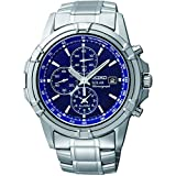 Seiko Solar Chronograph Herren-Uhr Edelstahl mit Metallband SSC141P1