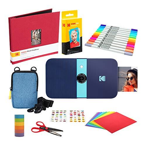 KODAK Smile Impresora Digital instantánea (Azul) Kit de Bloc de Notas con Estuche Blando