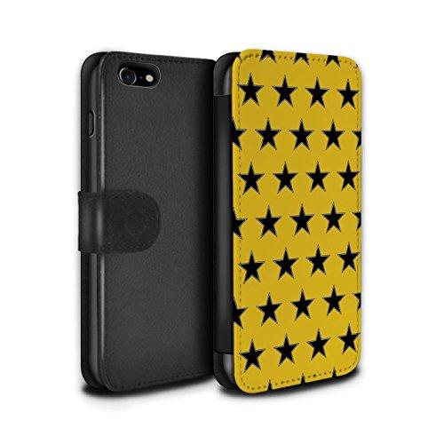 Stuff4 PU lederen hoesje/portemonnee/IP-PSW/sterren patroon collectie Apple iPhone SE 2020 ORANJE