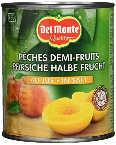Del Monte Pfirsiche 1/2 Frucht in Saft, 6er Pack (6 x 825 g Dose)