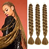165G Jumbo Braiding Hair Honey Brown Synthetic Jumbo Braids 3 Packs