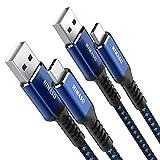NIMASO Câble USB Type C [2M,Lot de 2] Câble USB C Charge Rapide en Nylon Tressé Ultra Résistant...