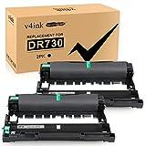 v4ink Compatible Drum Unit (NOT Toner) for Brother DR730 DR-730 DR 730 760 Drum for Brother HL-L2350DW HL-L2390DW HL-L2395DW HL-L2370DW XL DCP-L2550DW MFC-L2710DW MFC-L2730DW MFC-L2750DW XL 2 Packs
