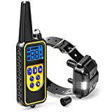 MadagascarStore Dog Training Collar, Waterproof Rechargeable Dog Remote Trainer with Vibration and Beep