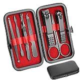 Set De Manicura Cuidado Personal - Kit De Cortaúñas Manicura 8 En 1 Set De Pedicura Profesional Kit De Aseo Regalo para Hombres Padres Mujeres Ancianos Paciente Cuidado De Uñas