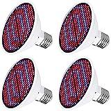 GUOYULIN Bombilla de Crecimiento LED Espectro Completo, 300 Leds, Lámpara de Cultivo de Plantas de Luz Solar Artificial E27, para Hidropónica Invernadero Grow Box Plantas Hortalizas Flores