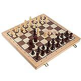 Regalo de ajedrez Conjunto De Ajedrez De Madera Hecho A Mano Conjunto De Tablero De Ajedrez Plegable Grande con Ajedrez De Madera 20x20 Tablero De (Color : Chess Set)