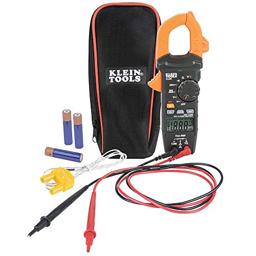 Klein Tools CL220 Digital Clamp Meter, Auto-Ranging 400 Amp AC, AC DC Voltage, TRMS, Resistance, Continuity, NCVT Detection, and Temp