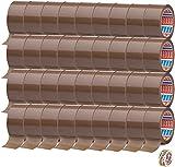 tesa 64014 - Cinta adhesiva para embalar (50 mm x 66 m, 66 m x 50 mm, 36 rollos + lámina adhesiva de Tesa), color marrón
