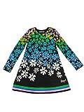 Desigual Saltillo - Vestido para niña, Negro, EU 9/10