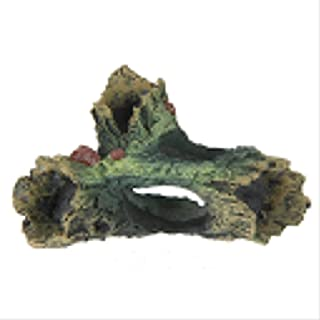 Befaith Acuario Fish Tank Artesanía de resina Ornament Tronco Driftwood Cueva Decoración Madera Forma 12cm*