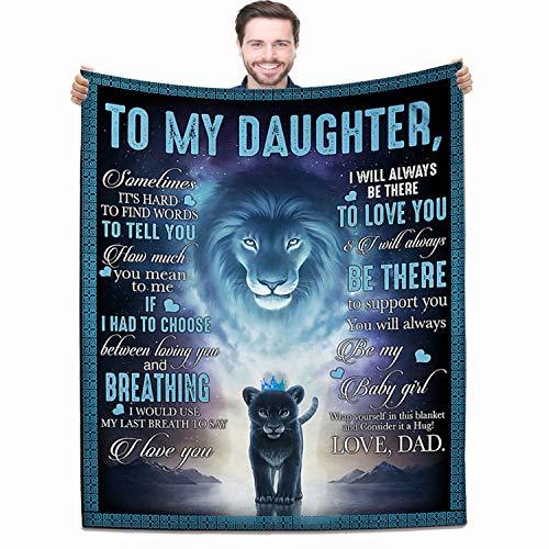Manta para mi hija de papá, manta de forro polar, para regalo de cumpleaños, ultra suave, micro ligera, cálida para cama (a hija de papá, 127 x 152 cm)