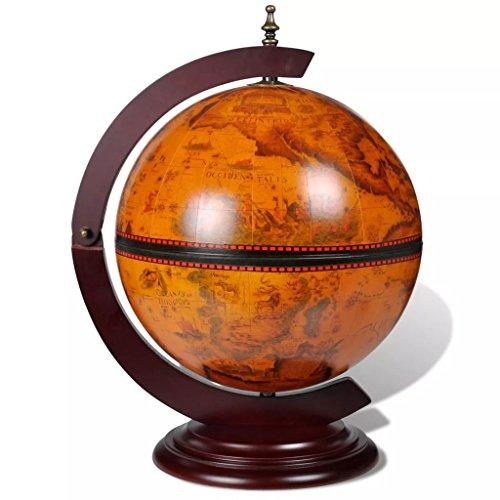 yorten Globusbar Minibar Globus Tischbar Weinschrank Hausbar Massivholz 38 x 33 x 48 cm (LxBxH) Dekoration für Zuhause oder Büro