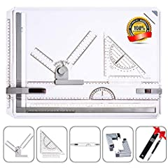 Frylr A3 DRAWING BOARD: This Is a complete A3 Drawing tool set with a parallel motion which slides in a Groove. Made of high quality plastic, lightweight and durable, Ergonomic designed. Size: 50.2cm x 36.8cm x 6cm/20'' x 14.5'' x 2.4'' T-SQUARE AND ...