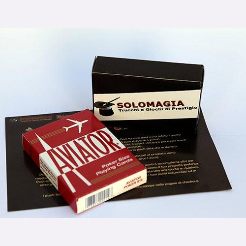 Mazzo di Carte Aviator - Formato poker dorso rosso - Card Deck Aviator - Format poker red back - Mazzi Aviator - Carte da gioco - con omaggio esclusivo firmato SOLOMAGIA