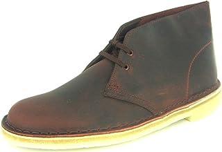 حذاء Desert Chukka للرجال من Clarks، جلد بلوط أحمر، 8. 5 M US