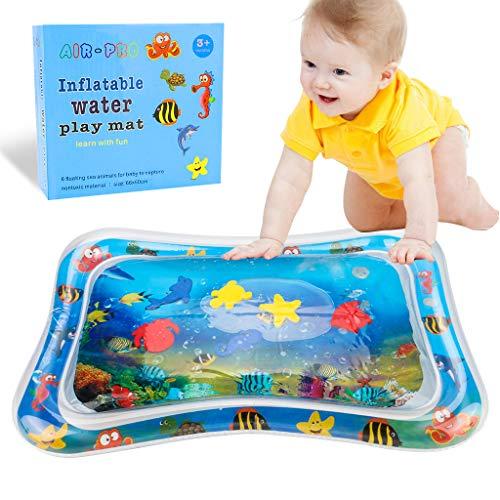 Estera inflable del agua del bebé,Alfombra de Juego con Agua Inflable Bebés Tapete de PVC a Prueba de Fugas Tiempo de Tummy Juguete Centro de Actividades La Estimulación del Crecimiento de Su Bebé