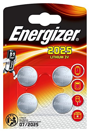 Energizer CR2025 Piles Bouton au Lithium 3 V Batterie – (Lot de 4) Vendu par Generous Relax