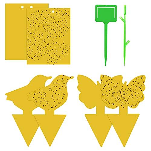 Fliegenfalle Gelbsticker 90pcs,Fruchtfliegenfalle Gelbtafeln Gelbsticker Fliegenfänger Obstfliegenfalle Klebrige Insektenfallen Gegen Trauermücken, Nematoden, Blattläuse, Minierfliegen, Thripsen