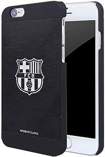 FCB FC Barcelona - Carcasa de aluminio para iPhone 7/8 (Talla Única/Negro)
