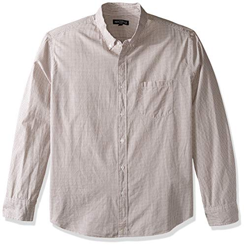 J.Crew Mercantile Herren Slim-Fit Long-Sleeve Tattersall Shirt Button Down Hemd, Violett brüniert, X-Groß