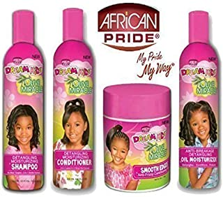 African Pride Dream Kids Olive Miracle Detangling Moisturizing set of 4 products