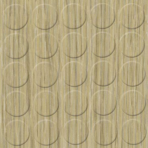 haggiy Selbstklebende Abdeckkappen für Möbel - Durchmesser 14 mm - 25 Stück - Möbelpflaster (Eiche Bardolino grau)