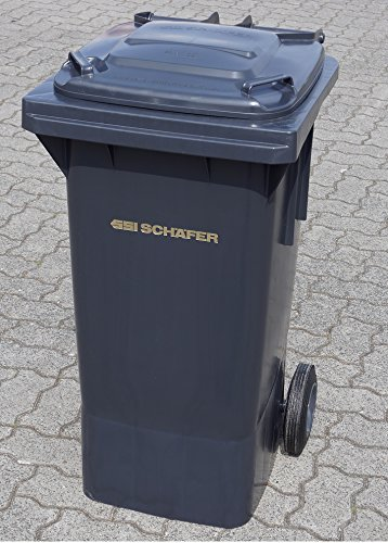 SSI Schäfer Mülltone 80L grau Müllgroßbehälter - made in Germany