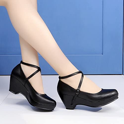GTVERNH-Une Danse La Danse Moderne De Chaussures épais Avec Chaussures De Danse à La Mode Des Chaussures Des Chaussures En Trois étapes noir Trente - Neuf