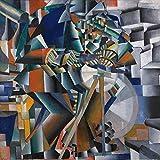 1art1 Kazimir Malévich - El Afilador de Cuchillos Principio de la Animación, 1913 Póster Impresión Artística (70 x 70cm)