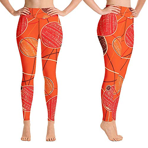 Pantalones de yoga de color naranja para las mujeres polainas de control de barriga de cintura alta Booty Leggings de levantamiento de glúteos de yoga - negro - Medium