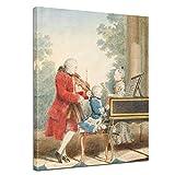 Keilrahmenbild Mozart Familienportrait - 90x120cm hochkant